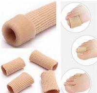 Füße Finger Korrektor Einlegesohlen Stoff-Gel-Silikon-Schlauch Bunion Zehen Finger Separator Divider Schutz Corns Schwielen freies DHL