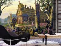 Benutzerdefinierte europäischen Stil Mural Schöne Landschaft von Schloss Fototapeten 3d TV Hintergrund Wandbild Schlafzimmer Wohnzimmer Non-Woven-3D