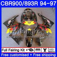 Kit Para HONDA CBR900RR CBR 893RR 1994 1995 1996 1997 Corpo 260HM.50 CBR 893 CBR900 RR Topo amarelo preto CBR893 RR CBR893RR 94 95 96 97 Carenagem