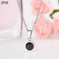 ZFVB Round Pendant Necklaces Women Trendy Jewelry 2019 Stain...