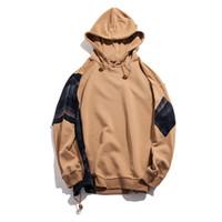Мужские толстовки толстовки улица плед печатание колокольчик свитер с капюшоном хип-хоп толстовка пара повседневная куртка с длинным рукавом зима