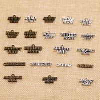 60 قطعة سحر لجعل علامة مجوهرات اليدويه عسكرية للجيش البحرية البحرية نص HJ142