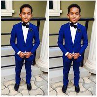 2019 costume de garçon bleu pour le blazer de mariage + pantalon homme costume smoking smoking formel fête costume madou smokedo pour garçon