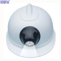 Mine ABS Sturzhelm Akku Li-Batterieleuchte Scheinwerfer Arbeitssicherheit Schutzhelm Contruction Arbeitsplatz Miners Kopf Schutzkappe