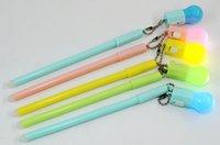 Más vendidos bolígrafos de gel Versión coreana creativo borrable bulbo pluma estudiante oficina papelería bombilla colgante neutral pen245