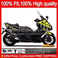 OEM для YAMAHA black yellow T-MAX500 MAX-500 TMAX500 TMAX MAX 500 83HC63 TMAX-500 2012 2013 2014 2015 T MAX500 12 13 14 15 инжекционный обтекатель
