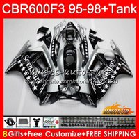 Body + Tank für HONDA CBR 600F3 600cc CBR600 F3 Siebenstern 95 96 97 98 41HC.124 CBR 600 FS F3 CBR600FS CBR600F3 1995 1996 1997 1998 Verkleidungs