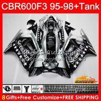 Body + réservoir pour HONDA CBR 600F3 600CC CBR600 F3 Sevenstars 95 96 97 98 41HC.124 CBR 600 FS F3 CBR600FS CBR600F3 1995 1996 1997 1998 Carénage