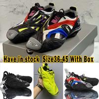 DHL شحن مجاني 20ss مصمم Tyrex حذاء رياضة للرجال النساء في الفضة شبكة تربيع منحنية المسار اصبع القدم الثلاثي S رجل مدرب حذاء مصمم