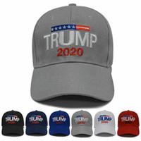 Cap Trump Donald Trump 6 estilos 2020 Hat Sports Chapéus 3D bordado boné de beisebol ajustável Outdoor Summer Beach Chapéus ZZA1704