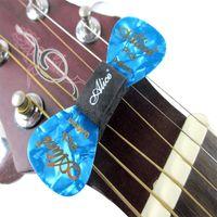 Alice 5pcs Black Rubber Guitar Pick Holder Fix em Headstock para guitarra baixo Ukulele