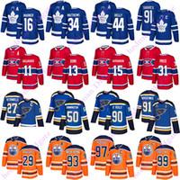 토론토 메이플 leafs 91 John Tavares St.Louis Blues 90 Ryan O'Reilly Edmonton oires 97 McDavid Montreal Canadiens 13 Max Domi Hockey Jersey