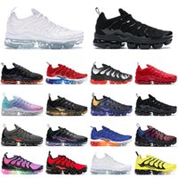 nike air vapormax plus vapor max tn plus hommes femmes chaussures de course Triple Black white Bred Betrue Cool Grey Black Volt mens designer trainer sports sneakers 36-45