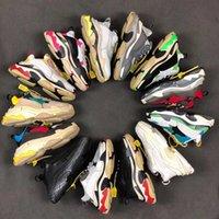 Tasarımcı Paris 17FW Üçlü Sneakers Üçlü Basketbol Ayakkabıları Lüks Rahat Ayakkabılar Erkek Tasarımcı Ayakkabı Bağbozumu SportsTrainer SZ 36-45