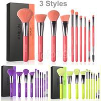 Docolor Makeup Щетки Neon Peach Makeup Щетка набор 10 шт. Premium Kabuki Фонд Смешивание лица Порошок для теней для теней для теней для теней для красоты косметические щетки
