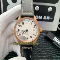GTR New Best версия PILOT'S ЧАСЫ Spitfire серии истребитель Bronze Случай 327002 белый циферблат Miyota 9015 Автоматическая Мужские часы Спортивные часы