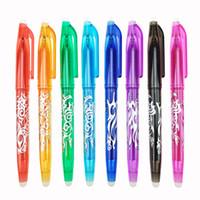 도구 오피스 문구를 작성하는 새로운 0.5mm의 지울 수있는 펜 1 개 리필 다채로운 8 색 크리 에이 티브 그리기 도구 학생