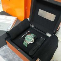 Nuevo Shoot WATCH 44mm GREEN Face Camo Strap Super P 111 Movimiento mecánico de cuerda manual Relojes de moda para hombre con correa Origina Box