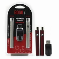 BOGO Battery Double Preheat Pen con caricabatterie USB Blister Kit Valtaggio a tensione variabile 400mAh Lo VV per 510 filettatura spessa Vertex Vertex vape