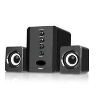 Combinación de escritorio USB Altavoces PC por cable altavoces estéreo bajo del subwoofer del reproductor de música caja de sonido para PC de Smart Phones D200T