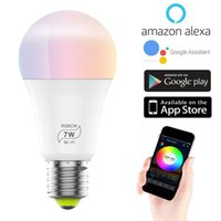 Smart Light Bulb A19 E27 RGBCW WiFi Dimmable Multicolor LED ...