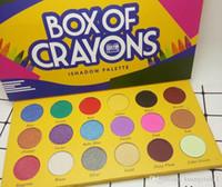 Nuovo arrivo Tavolozza di alta qualità! BOX DI CRAYONS Cosmetici Palette per ombretti 18 colori Palette per ombretti Shimmer Matte OCCHI di bellezza