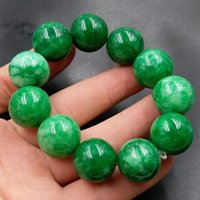100% riktigt grönt jadejade-armband 7a smaragd handskuren mönster blomma jade bangle grön bangles pärlor armband