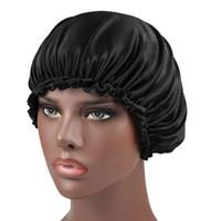 Yeni Elastik Kadın Saten Kaput Türban Şapka Şapkalar Kemo Kasketleri Ipek Donna Uyku Kap Bayanlar Saç Kapak Saç Aksesuarları
