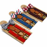 Set di papillon per bambini Baby Boy Set di bretelle per matrimonio abbinati a bretelle e set di papillon di lusso