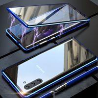 Magnetische Adsorption 360 Voll Ausgeglichenes Glas-Kasten für Samsung-Galaxie-Anmerkung 10 Anmerkung 20 Ultra-S10 S20 Ultra-A70 A30 A20 A10 S9