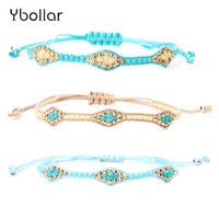 1pc Handmade Cord Braided Bracelet Rise Beads Simple Style F...