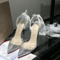 2019 горячая распродажа высокое качество дамы на высоких каблуках прозрачный пояс дрель туфли, женская мода сексуальная партия сандалии свадебные туфли # 05