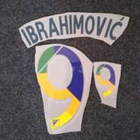 2019 MLS impression à chaud namesets de police Zlatan estampillage du joueur IBRAHIMOVIC La Galaxy impressionné autocollants de football en plastique