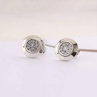Schmuck Designer Ohrringe Frauen Klassisches Design für Pandora 925 Sterling Silber Kristall Diamant Damen Ohrstecker