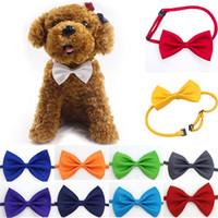 Ajustável Dog Pet Bow Colar Acessório gravata Collar filhote de cachorro Cor Viva Pet Bow Mix Cor gratuito DHL WX-G15
