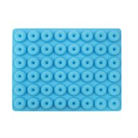 Reusable mini silicone 48 cavity donut chocolate molds candy...