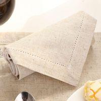 Boda 6PCS / LOT vainica servilletas de lino cena servilletas personalizadas * 45cm para el partido 45