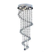 Decke Kronleuchter LED K9 Kristall Kronleuchter Beleuchtet Treppen Hängen Licht Lampe Indoor Beleuchtung Dekoration GU10 Kronleuchter Leichte Leuchten