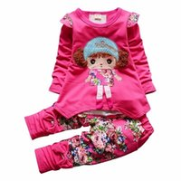 2019 Spring Autumn Kids Cartoon Girls Long Sleeve Flower T- s...