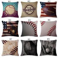 البيسبول سادة الأغطية الرياضة الزخرفية غطاء وسادة أريكة مقعد السيارة رمي سادة القضية ديكور المنزل البيسبول البيسبول 9 تصاميم DSL-YW2877