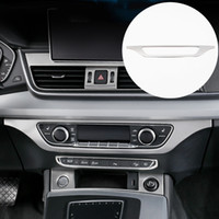Center Console bouton Boutons Cadre Décoration Stickers Car Styling Pour Audi Q5 FY 2018 2019 Intérieur En Acier Inoxydable Accessoires