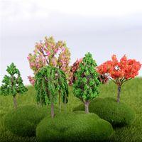 Yeni Mini Ağacı Peri Bahçe Süslemeleri Minyatürleri Mikro Peyzaj Reçine El Sanatları Bonsai Heykelcik Bahçe Teraryum 16 tarzı