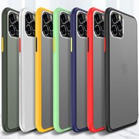 Metal Frame Lens Protector Transparent Matte Frosted Baby Skin Hybrid TPU PC Armor Case For iPhone 11 Pro Max XR XS X 8 7 Huawei Mate 20 30
