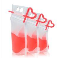 250ml und 500 ml Kunststoff Getränke Tasche Getränk Milch Kaffeebehälter Trinken Fruchtsaft-Tasche Lebensmittel Aufbewahrungstasche