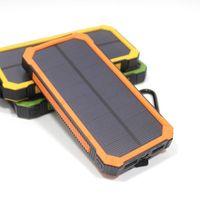 LED와 20000mAh 소설 태양 전원 은행 울트라 얇은 방수 태양 광 발전 은행 (2A) 태양되는 PowerBank 조명