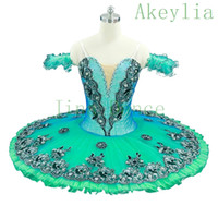 Dorosły Green Flower Fairy Classical Tutu Professional for Ballet Konkurs, Blue Professional Ballet Tutus, Dark Pink Bancake Tutu dla dziewcząt