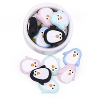 Silicone Beads Mini Penguin Teething Beads Baby Teethers Che...