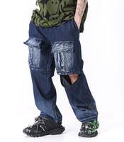 Hip Hip Mens Patchwork destacável Pants Fashion Designer 2020 verão carga calças de moletom Streetwear Harem Pants Casual Joggers mac09