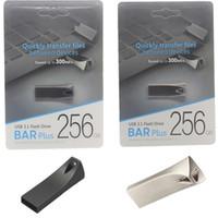 2020 Sıcak Satış Metal Bar Artı USB Flash Sürücü 32GB 64 GB 128 GB Memory Stick USB 3,0-2,0 U disk PC Sürücüler 30pcs
