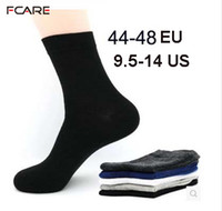 Fcare 10pcs = 5 Paar Herren Baumwollkleid Socken Plus Large Big Size 44, 45, 46, 47, 48, Business Kleid Socken Calcetines MX190719
